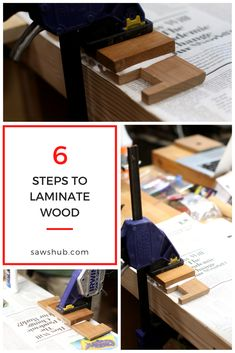 Learn the simple woodworking process for how to laminate wood togeter. Whether you are learning how to make kitchen cabinets or other wood projects, this easy process will help your next DIY project. Plywood Projects, Woodworking Projects Diy, Diy Pallet Projects, Pallet Furniture Plans, Diy Furniture, How To Make Kitchen Cabinets, Homemade Tables, Build Your Own House, Wood Laminate
