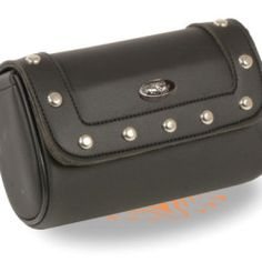 motorcycle leather tool bag black