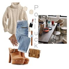 """""""lets eat"""" by vay-brown on Polyvore featuring Dsquared2, CB2, Wrap, Kendra Scott, MAC Cosmetics and Proenza Schouler"""