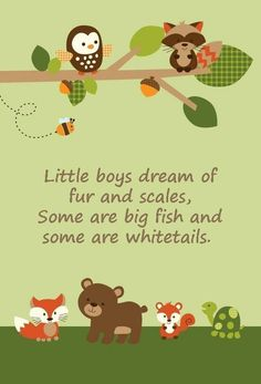 Cute Forest Friends decorations.