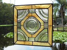 Depression Glass 1930s Madrid Stained Glass by HeritageDishes, $99.95