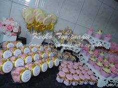 Gold & Pink Princess Birthday Party favors idea