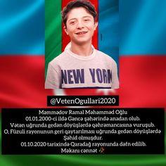 Səhid Məmmədov Ramal Gəncə Nur Icində Yat Cənnət Qoxulu Səhidim Azerbaijan Sene Hero