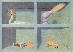 René Magritte - Communicating Vessels, 1946