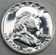 1960 50C (Proof) Franklin Half Dollar  GEM (OUT OF PROOF SET)(FREE SHIPPING) $23.50 Free Shipping