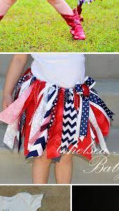 5bc9ed136bb Baby and Girls of July Chevron Skirt