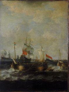 dutch indiamen passing herring busses 17s