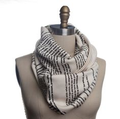A Tale of Two Cities Book Scarf by storiarts on Etsy, $42.00