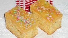 Fotorecept:Rebarborovo-mrkvový koláč a chia semienkami.