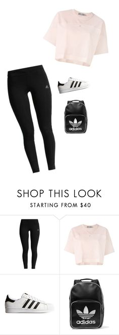 """""""Untitled #494"""" by savannahtaylor950 on Polyvore featuring adidas and adidas Originals"""
