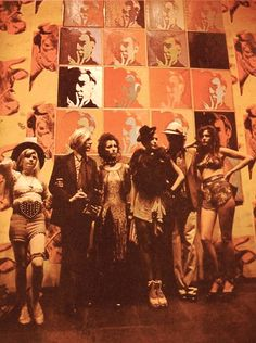 Andy (L-R) Andrea Feldman, AW, Ultra Violet, Jane Forth & friends. c 1972