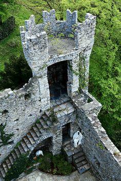 Tower of Castello di Vezio ~ ancient Roman fortress, located on Lake Como, Italy