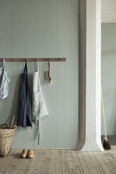 wall colour - soft - muted blue/green palette for the kitchen