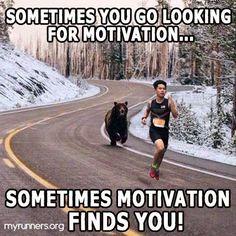 Sometimes you go looking for motivation... Sometimes motivation finds you!