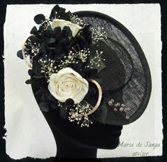 Head-dress design of Maria de Janza Atelier. For sale!!