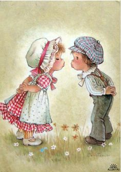 Sweetkids by Costanza Vintage Pictures, Vintage Images, Cute Pictures, Sarah Key, Holly Hobbie, Colorful Wallpaper, Beatrix Potter, Big Eyes, Cute Illustration