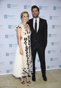 Date night: Emily Blunt and John Krasinski attended the American Institute for Stuttering ...