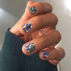 Diamentowe paznokcie - inspiracje