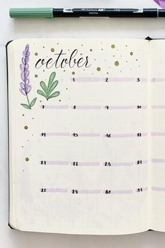 25 Best October Monthly Spread Ideas For Bujos In 2020 - Crazy Laura - - Are you setting up your bullet journal pages for October and need some monthly spread ideas? Check out the festive examples for inspiration! Bullet Journal School, Bullet Journal Weekly Spread, Planner Bullet Journal, Bullet Journal Spreads, Bullet Journal Writing, Bullet Journal Headers, Bullet Journal Cover Page, Bullet Journal Aesthetic, Bullet Journal Notebook