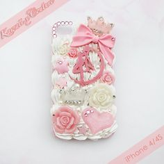 Custom Order Sailor Moon Princess Case | $35.00 Featuring our exclusive custom laser cut acrylic pieces!  SHOP: Kawaii x Couture Decoden Handmade decoden phone cases, jewelry, & accessories ♡