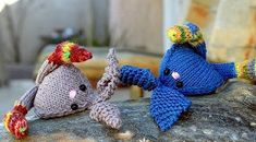 Topsy Turvey Bunnies | Quick and easy knit perfect for the Easter basket