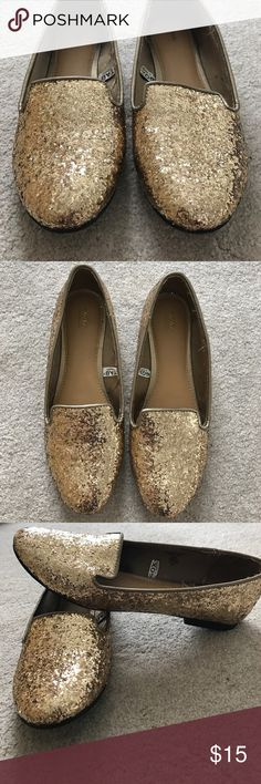 Sparkling gold flats Gold sparkling flats by Mossimo Mossimo Supply Co Shoes Flats & Loafers