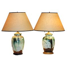Similar Pair Awaji Lamps | From a unique collection of antique and modern table lamps at http://www.1stdibs.com/furniture/lighting/table-lamps/