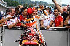 Marc Marquez w/ those who always support him ^_^ #MotoGP #GermanGP #2015