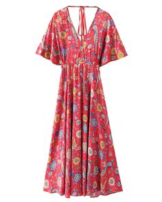 Fairtrade Maxi Beach Style Floral Dress