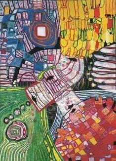 Friedensreich Hundertwasser (Austrian: 1928 - 2000) | 994 The Four Antipodes - 1999