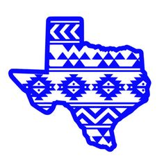 Aztec Texas Vinyl Decal by SouthSoulDesigns on Etsy