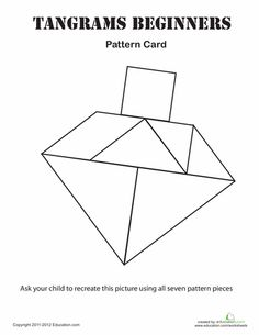 Worksheets: Easy Tangrams Puzzle #4