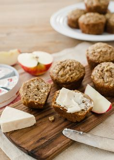 Apple Oat Muffins | www.kitchenconfidante.com | Grated apples, peels and all, make for snack-worthy muffins
