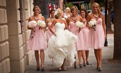 A Southern Charmed Pink, White and Grey Wedding... Love this!!