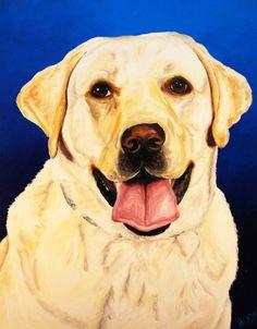 Yellow_Labrador_Dog_Giclee_Art_Print_of_Original_Painting_Signed_Pet_Portrait
