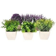 Conj. Vasos com Flores Artificiais
