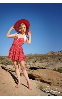 Get a little more coverage with the removable swim skirt to match our red polka dot Bettie swimsuits (sold separately)! Fastens with two smart snaps.