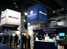 The NAB Show Microsoft Booth Showcasing Windows Azure and deltatre Diva