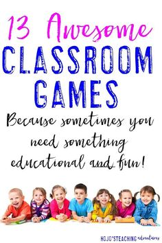 Here are 13 fun classroom games to use in the elementary classroom. Hands-on, engaging, and fun - your Kindergarten, 1st, 2nd, 3rd, 4th, 5th and 6th grade students will LOVE them! Make sure to check them all out today!