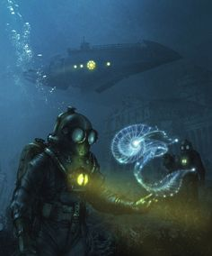 Meinert Hansen, Steampunk Submarine and Divers