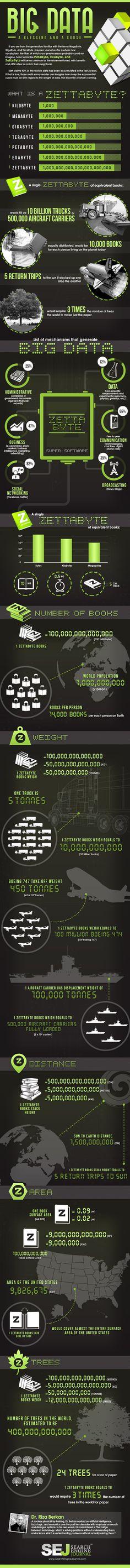 How Big Is Big Data? #BigData #infographic