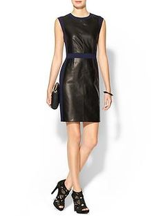 Rebecca Taylor Leather Sheath Dress.  Piperlime.