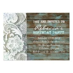 Cowboy boots and daisies country birthday party invitation cowboy blue country lace barnwood vintage birthday party personalized invite filmwisefo
