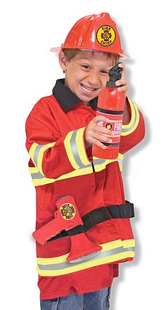 Fire Chief Role Play Costume Set-National Autism Resources $22.50