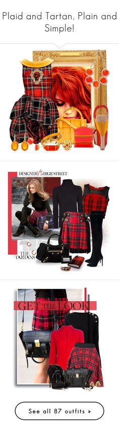 """""""Plaid and Tartan, Plain and Simple!"""" by monica-bye ❤ liked on Polyvore featuring Moschino, Dollhouse, MICHAEL Michael Kors, Tiffany & Co., Juicy Couture, Vince Camuto, Henri Bendel, Banana Republic, MANGO and FAUSTO PUGLISI"""