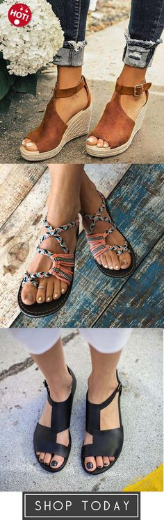 45f3ac703752d5 Women Chic Espadrille Wedges Sandals with Adjustable Buckle