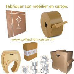 Cardboard Playhouse, Cardboard Furniture, Cardboard Crafts, Furniture Box, Furniture Making, Creation Deco, Do It Yourself Projects, Craft Box, Palette