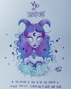 "Alef Vernon (@alefvernonart) on Instagram: ""♑ CAPRICORN ♑ You bought a star in the sky tonight..."""