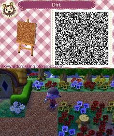 Animal Crossing: New Leaf dirt path by http://skywardcrossing.blogspot.com/ (Me!) #acnl #qr
