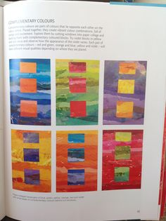 Ruth Issett. A Passion For Colour. Complimentary colour exercise.